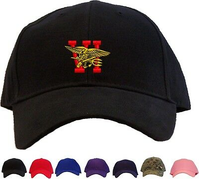 NAVY SEAL TEAM 6 Insignia Embroidered Baseball Cap - Available in 7 Colors  - Hat -  14.95  70cec1fbe2ff