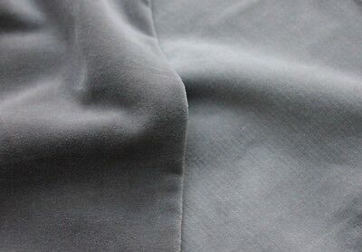 Dark Grey/charcoal Heavy Weight Cotton Velvet Upholstery/curtain Fabric Free P&p