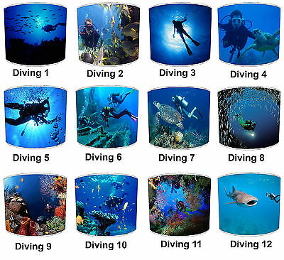 Scuba Diving Designs Lampshades Ideal To Match Scuba Diving Wall Decals Stickers