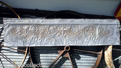 SALE Antique Victorian Ceiling Tin Tile Flowers Leaves Shabby Chic Cottage