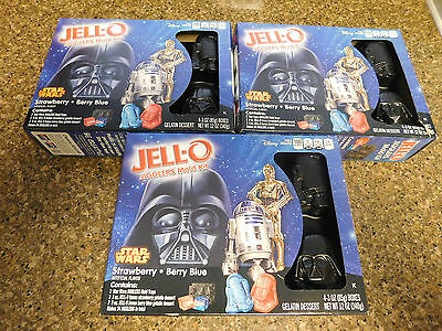 NEW Star Wars Jell-O Jigglers Mold Kit - Factory Sealed Lot of 3 Kits