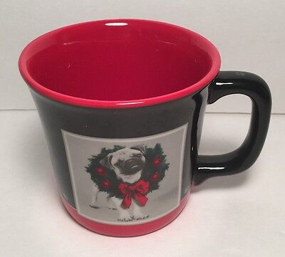 Keith Kimberlin Pug with Wreath Holiday Mug Encore Group