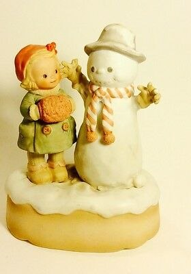 "Memories of Yesterday ""Good Morning Mister Snowman"" 1988 Musical Figurine"