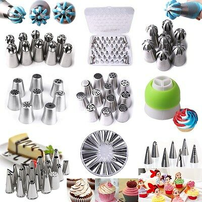 Russian Tulip Rose Icing Piping Nozzles Cupcake Cake Decoration Tips Tool