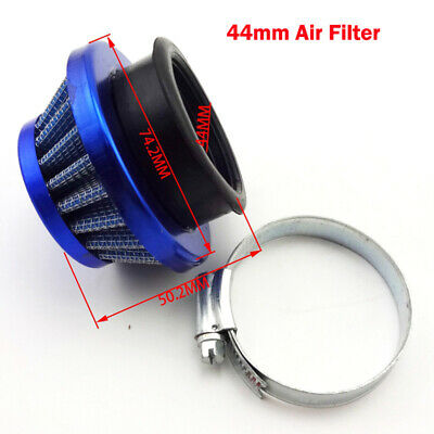 Blue 44mm Air Filter For 47cc 49cc Mini ATV Quad Dirt Pocket Bike Go Kart