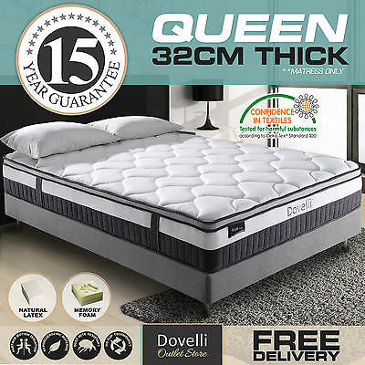 New Single Double Queen King Size Mattress 5 Zone Pocket Spring Latex Euro Top