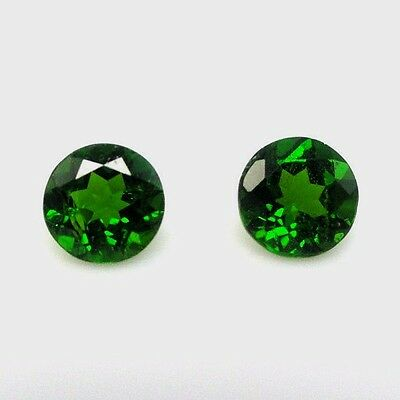 Natural Chrome Diopside 6mm Round Cut Calibrated Size Green Color Loose Gemstone