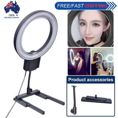 Studio 40W 5400K Photo Ring Lamp Light w/ Flexible Base Table Top Stand
