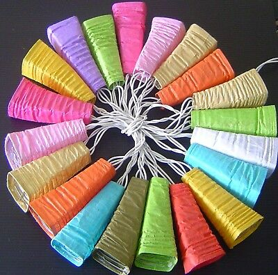 LED Mini Coloured Paper Bell Lanterns Fairy Lights - Mixed Colours String Lights