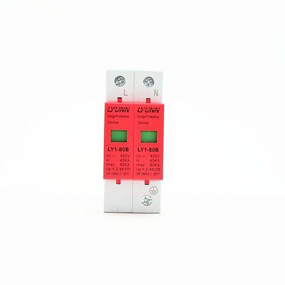 2P 40KA~80KA Din Rail Surge Protection Device SPD Lightning Arrester Protection