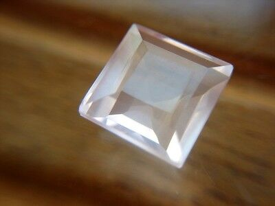 ROSENQUARZ  -  SQUARE FACET  -  8,3 mm  -  2,81 ct.
