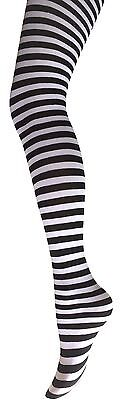 Ladies Stripy Tights- Ladies Stripe Fancy Dress Tights- Halloween Stripe Tights