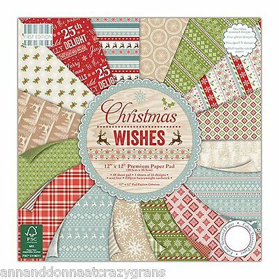 """CHRISTMAS WISHES PREMIUM PAPER ( 200GSM) PAD 6"""" x 6"""" - 48 SHEETS PAD100"""