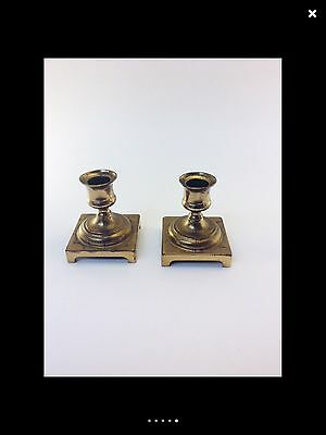 Vintage Gold-tone Brass Metal Table Top Candle Holders Set, Antique Look