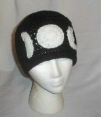 Hand Crochet Triple Moons Beanie - Unisex - Made to Order
