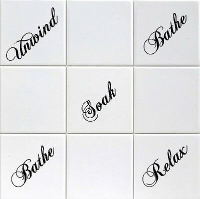"Tile Transfers stickers for Shower or Bathroom to fit 4"" or 6"" Tiles. pack of 12"