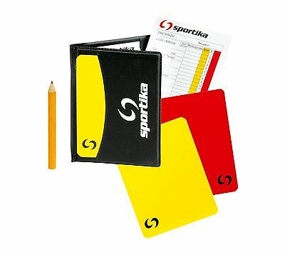 Case Notebook Referee SPORTIKA Complete Cards and Pencil, Soccer sport