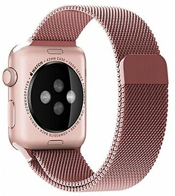 Ikeen Apple Watch Band, Milanese Loop Mesh IWatch Band 38mm Watch Strap With -