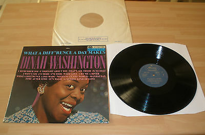 "Dinah Washington 12"" Album Lp What A Diff'rence A Day Makes Mercury 1966 Ex """