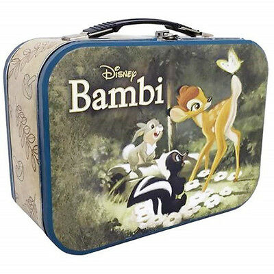 Walt Disney Bambi with Thumper and Flower Large Carry All Tin Tote Lunchbox NEW
