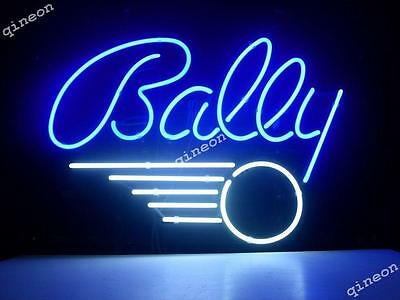 "17""X14"" Bally Pinball Arcade Game Room Real Glass Neon Light Sign FAST SGIPPING"