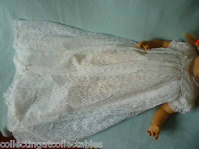Vintage Childs Or  Dolls Christening Gown
