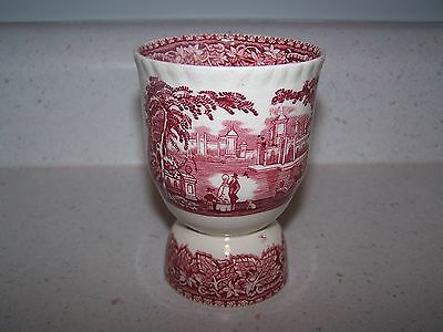 Beautiful Masons / Mason's Pink / Red Vista 4 Inch Double Egg Cup
