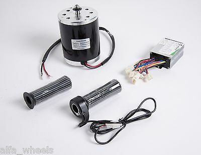 500 W 24 V electric 1020 motor w base, speed control & Thumb Throttle f scooter
