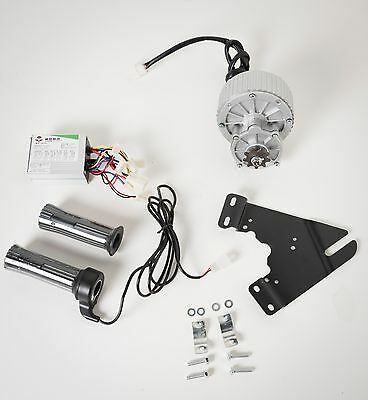 450W 24V electric brush motor conversion kit  bicycle ebike w control & throttle