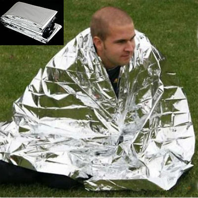 HOT sale Waterproof Emergency Survival Foil Thermal First Aid Rescue Blanket CC