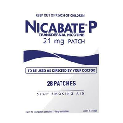 * Nicabate P Patch 21Mg  Stop Smoking 24Hr Step 1  Manage Cravings 28 Patches