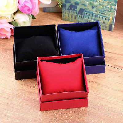 1/5PCS Present Gift Boxes Case For Bangle Jewelry Ring Earrings Wrist Watch Box#