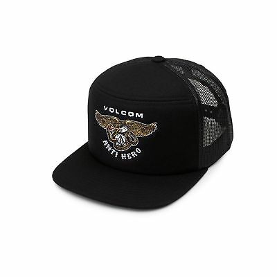 Volcom Trucker Cap Hash Stash Black Skateboard Hat Cap Kingpinstore Free Post