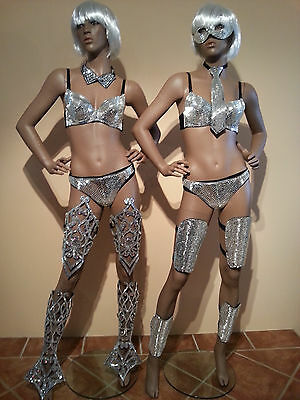"BRAZIL SAMBA-Lady GAGA ""MIRROR CLOTHES"" Many Styles -ROBOT Costumes Outfits"