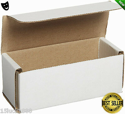 50 5x2x2 White Shipping Boxes Mailers Small, Packing Mailing Strong Cardboard