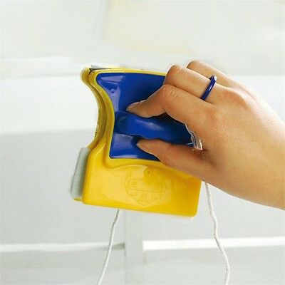 Magnetic Window Double Side Glass Wiper Cleaner Cleaning Brush Pad Scraper UL