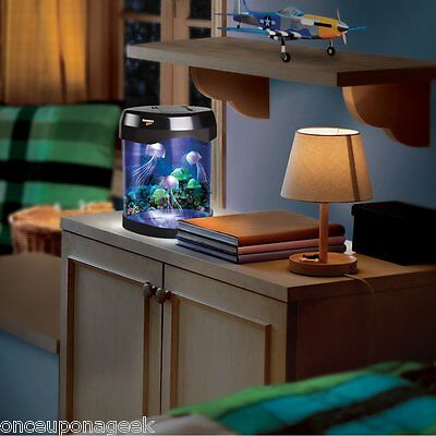 Discovery Kids LED Multi Colored Swimming Jellyfish Tank Mood Lamp Nightlight