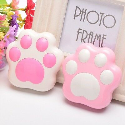Japanese Cat Paw Prints Contact Lens Case Mini Travel Portable Len Box Container