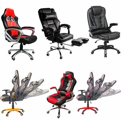 BTM Gaming Chair Computer Racing Office Swivel Racer Sport PC Chairs High Back