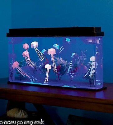 Giant Jellyfish Aquarium Deluxe Jellyfish Tank LED Light Fishtank Pets Household