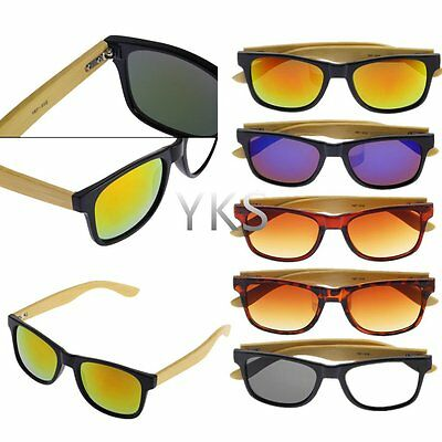 Bamboo Sunglasses Wooden Wood Mens Womens Retro Vintage Summer Glasses KN