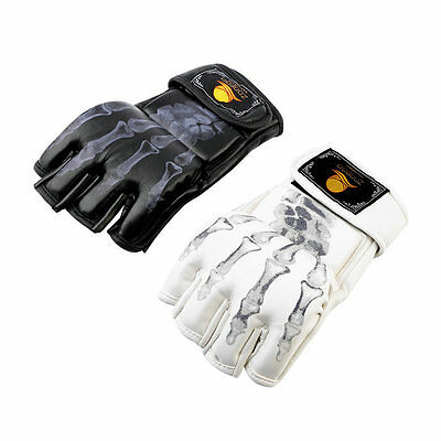 MMA UFC Sparring Grappling Fight Boxing Punch Ultimate Mitts Leather Gloves QT