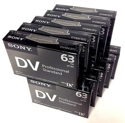 Sony DVM63PS Mini DV Minidv Camcorder Video 63min Professional Tape - 10 Pack