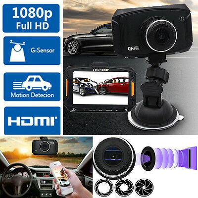 1080P HD 3Car Camcorder DVR Camera Video Recorder Dash Cam Night Vision G-Sensor