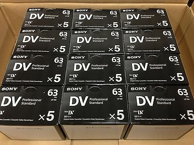 60 Pack - Sony DVM63PS Mini DV Minidv Camcorder Video 63min Professional Tape