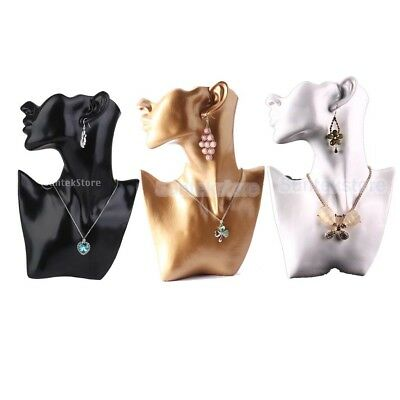 Female Mannequin Necklace Earring Head Bust Stand Jewelry Holder Display Rack