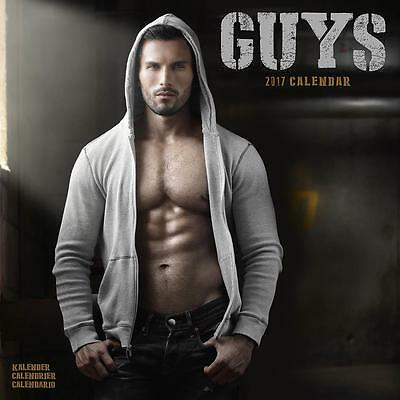 Guys Sexy Hunks Men 2017 Uk Square Wall Calendar New And Sealed By Avonside