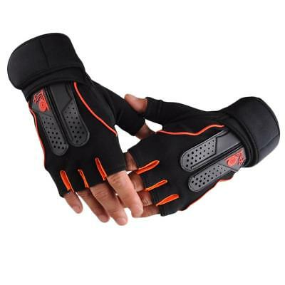 Men's Weight Lifting Gym Fitness Workout Training Exercise Half Gloves LO
