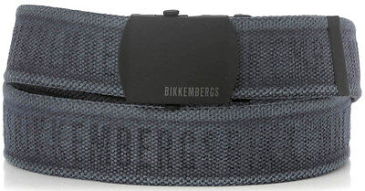 Cintura Uomo Bikkembergs Belt Men Tape Embossed DB H.4 D1812 Navy LARGE Blue