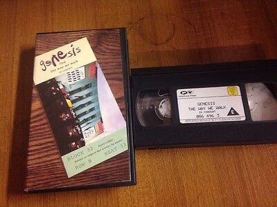 Genesis The Way We Walk In Concert VHS Videocassetta